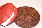 Red Velvet & Chocolate Whoopi Pies!